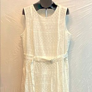 Calvin Kline White Sleeveless Dress, Size 18W